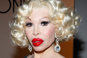 Amanda Lepore Dangling Crystal Earrings