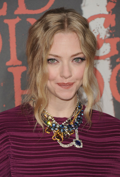 Amanda Seyfried Gemstone Statement Necklace