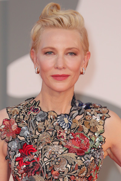 Cate Blanchett styled her hair into a sculpted pompadour for the Venice Film Festival screening of 'Amants.'