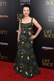 Debi Mazar wowed in a vintage-glam floral gown at the New York premiere of 'Cafe Society.'