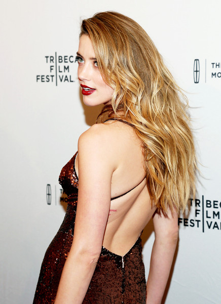 Amber Heard Long Wavy Cut