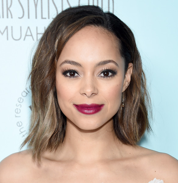 Amber Stevens West Berry Lipstick [image,stock photography,hair,face,eyebrow,lip,hairstyle,skin,chin,shoulder,beauty,cheek,actor,hair,hairstyle,amber stevens west,the novo,california,microsoft,make-up artists hair stylists guild awards,amber stevens west,live in front of a studio audience,edith bunker,archie bunker,george jefferson,image,stock photography,actor]