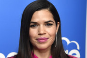 America Ferrera Dangling Diamond Earrings
