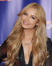 Havana Brown wore a pair of name pendant necklaces at the post show of 'America's Got Talent.'
