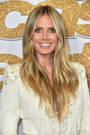 Heidi Klum framed her face with a slightly wavy layered cut for the 'America's Got Talent' season 13 live show.