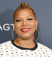 Queen Latifah sported an edgy ponytail at the 'America's Got Talent' season 14 live show.
