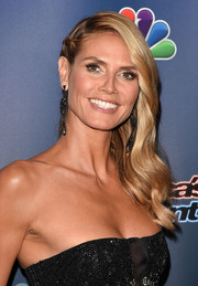 Heidi Klum sweetened up her look with this partially braided side sweep at the 'America's Got Talent' season 9 post-show event.