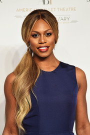 Laverne Cox wore a hyperromantic wavy ponytail to the American Ballet Theatre 75th anniversary gala.