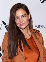 Katie Holmes opted for a simple straight hairstyle when she attended the American Ballet Theatre 2019 Fall Gala.