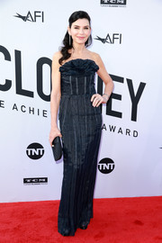 Julianna Margulies chose a strapless midnight-blue gown with a scultural neckline for the 2018 AFI Life Achievement Award Gala.