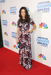 Abigail Spencer wore a busy print maxi-dress to the American Giving Awards.