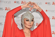 Irina Pantaeva sparkled all the over the place wearing this elaborate, bejeweled headpiece during the American Heart Association Go Red for Women event.