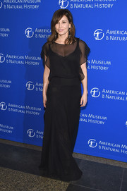 Gina Gershon oozed elegance wearing this floaty black gown at the American Museum of Natural History's 2017 Museum Gala.