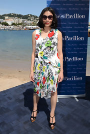 Ann Curry oozed a summer vibe in her charming floral dress at the American Pavilion opening.