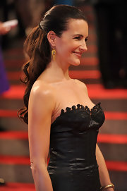 """Sex and The City"" star Kristin Davis showed off her long cascading curls while hitting the red carpet at the MET Gala."