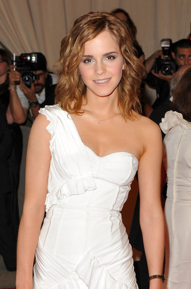More Pics of Emma Watson Medium Curls (1 of 13) - Emma Watson Lookbook - StyleBistro