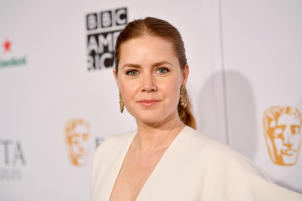 Amy Adams Ponytail [face,hair,skin,eyebrow,head,beauty,hairstyle,forehead,chin,shoulder,arrivals,amy adams,los angeles,four seasons hotel,california,beverly hills,bafta,tea party]