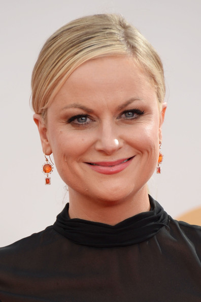 Amy Poehler Dangling Gemstone Earrings