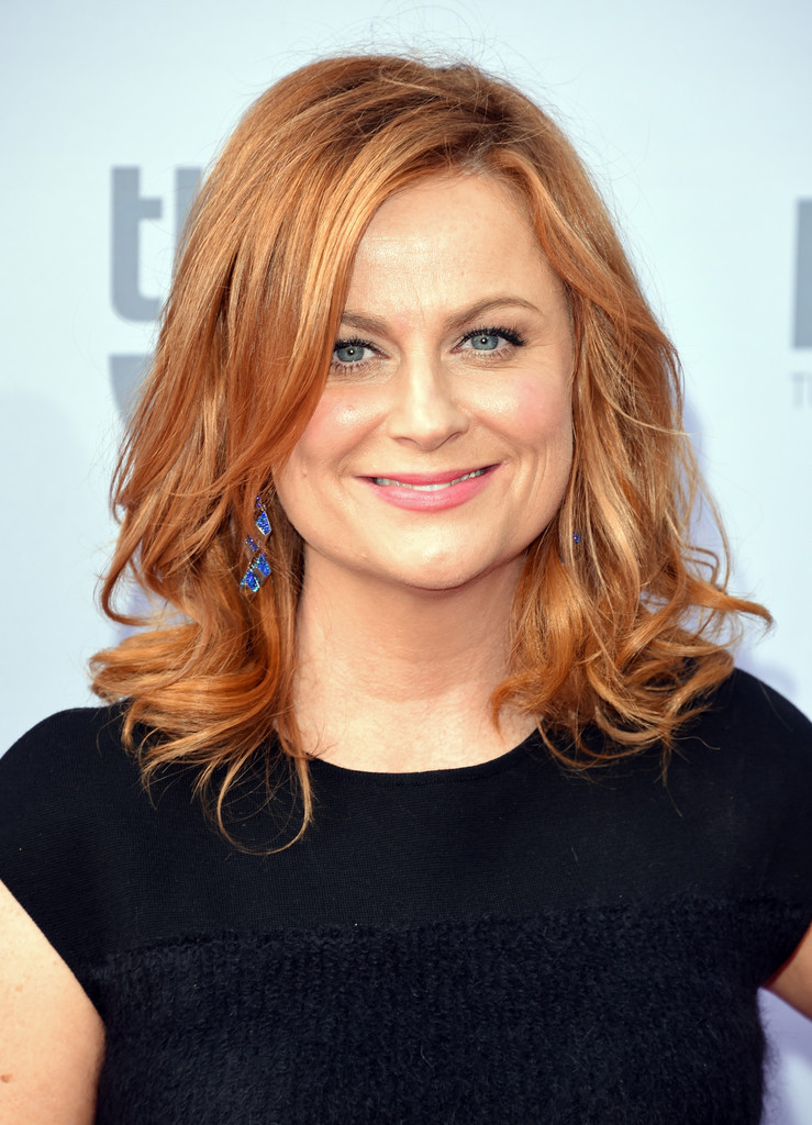 Amy Poehler Medium Curls With Bangs Hair Lookbook
