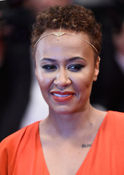 Emeli Sande kept it simple with this short curly 'do at the Cannes Film Festival premiere of 'Amy.'