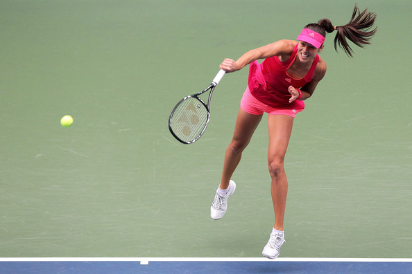 Ana Ivanovic Ponytail [ana ivanovic,anastasia rodionova,tennis,sports,tennis racket,soft tennis,racket,tennis player,tennis court,tennis equipment,racquet sport,tennis racket accessory,toray pan pacific open,match,serbia,austrailia,tokyo,japan,ariake colosseum]