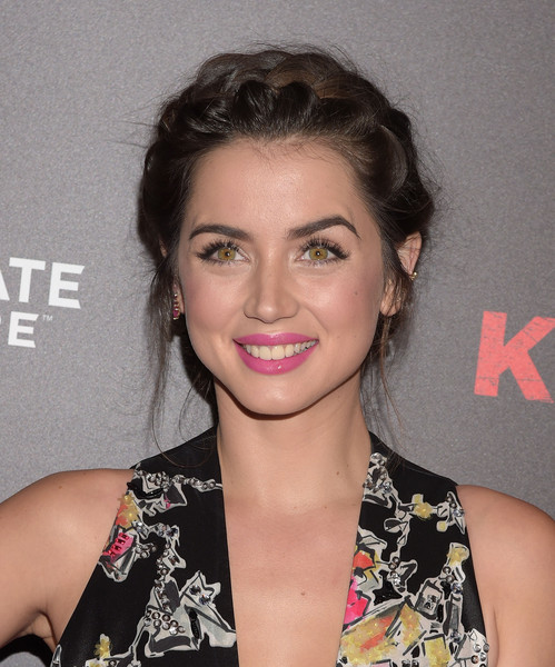 Ana de Armas Braided Updo [knock knock,hair,face,hairstyle,eyebrow,lip,beauty,chin,forehead,brown hair,premiere,arrivals,ana de armas,california,hollywood,tcl chinese theatre,lionsgate premiere,premiere,premiere]