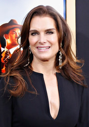 Brooke Shields wore her hair loose with gentle waves when she attended the 'Anchorman 2' premiere in NYC.