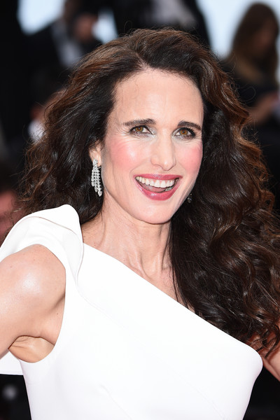 Andie MacDowell Long Curls [les plus belles annees dune vie,red carpet - the 72nd annual cannes film festival,film,hair,face,hairstyle,eyebrow,beauty,brown hair,shoulder,lip,chin,skin,andie macdowell,screening,cannes,france,cannes film festival on may 18,festival,cannes film festival,andie macdowell,2019 cannes film festival,the best years of a life,celebrity,cannes,image,film festival,premiere,red carpet,stock photography]