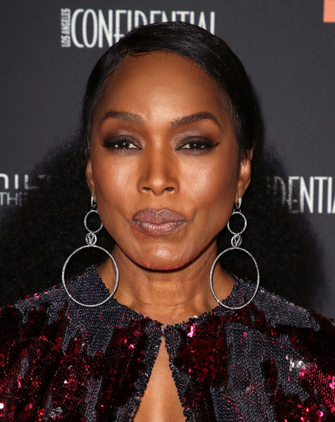 Angela Bassett Half Up Half Down [hair,face,eyebrow,lip,hairstyle,black hair,beauty,forehead,skin,nose,arrivals,angela bassett,hamilton behind the camera awards,exchange la,los angeles,california]