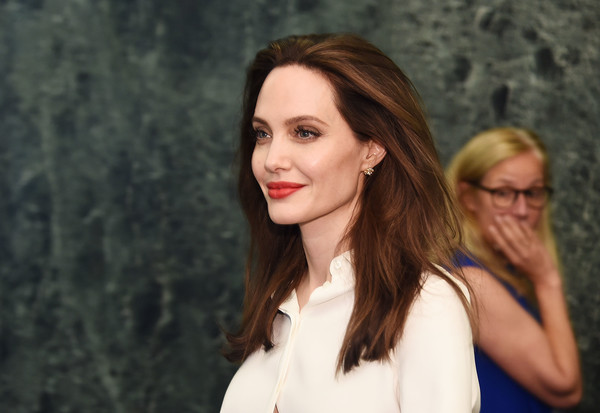 Angelina Jolie Long Straight Cut [angelina jolie visits the united nations,hair,face,lip,beauty,hairstyle,blond,brown hair,lady,long hair,fashion,actress,angelina jolie,united nations high commissioner for refugees,special envoy,new york city,united nations]