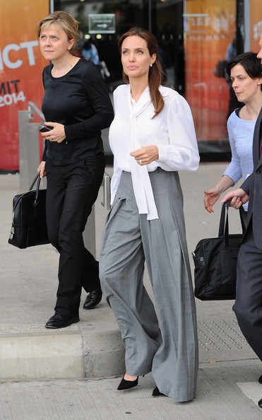 Angelina Jolie Wide Leg Pants