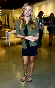 Cat Deeley opted for a laid-back look with this Anine Bing military jacket layered over an LBD when she attended the brand's Los Angeles flagship opening.