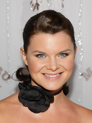 Heather Tom wore a sleek ponytail to an event in Beverly Hills.