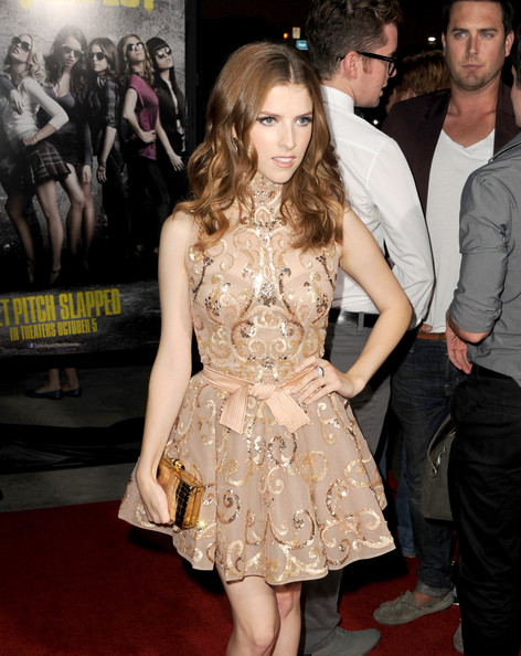 Anna Kendrick Metallic Clutch
