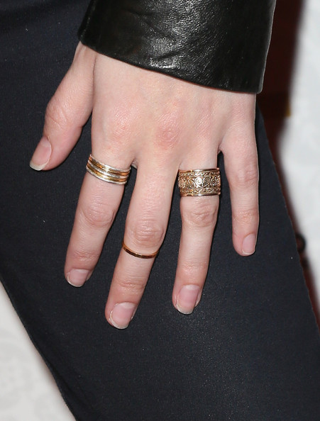 Anna Kendrick Gold Ring