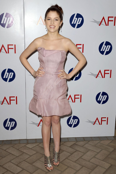 Anna Kendrick Strapless Dress [dress,clothing,cocktail dress,shoulder,premiere,strapless dress,hairstyle,fashion model,fashion,joint,arrivals,anna kendrick,los angeles,california,beverly hills,afi awards,four seasons]