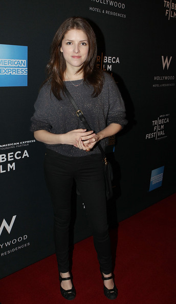Anna Kendrick Crewneck Sweater [clothing,fashion,premiere,long hair,jeans,carpet,event,tights,layered hair,brown hair,anna kendrick,kick-off party,w hollywood,hollywood,california,party,2011 tribeca film festival,kick-off]
