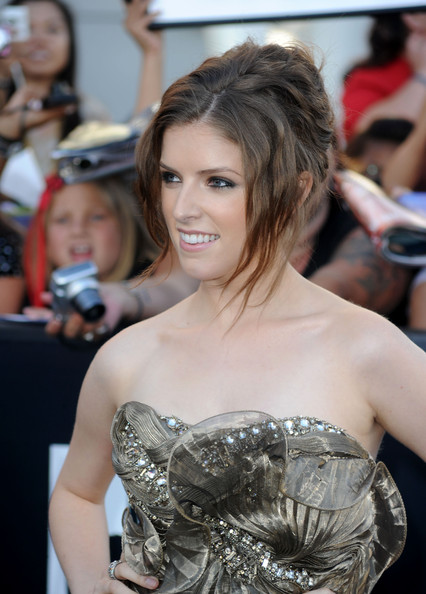 Anna Kendrick Messy Updo