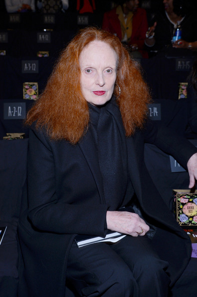 More Pics of Grace Coddington Long Wavy Cut (1 of 5) - Long Wavy Cut Lookbook - StyleBistro