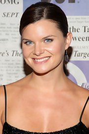 Heather Tom looked sleek and sophisticated in a chic chignon at an  event in New York City.