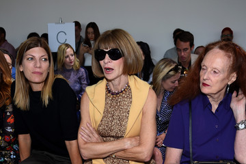 Anna Wintour Grace Coddington Michael Kors Spring 2016 Runway Show - Front Row