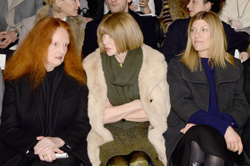 Anna Wintour Grace Coddington Carolina Herrera - Front Row - Mercedes-Benz Fashion Week Fall 2014