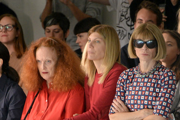 Anna Wintour Grace Coddington Rodarte - Front Row - Mercedes-Benz Fashion Week Spring 2015