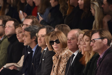 Anna Wintour Hamish Bowles Ralph Lauren - Front Row - Fall 2016 New York Fashion Week: The Shows