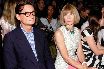 Anna Wintour Hamish Bowles Public School - Front Row - MADE Fashion Week Spring 2015