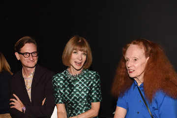 Anna Wintour Hamish Bowles Vera Wang Collection - Front Row - Spring 2016 New York Fashion Week