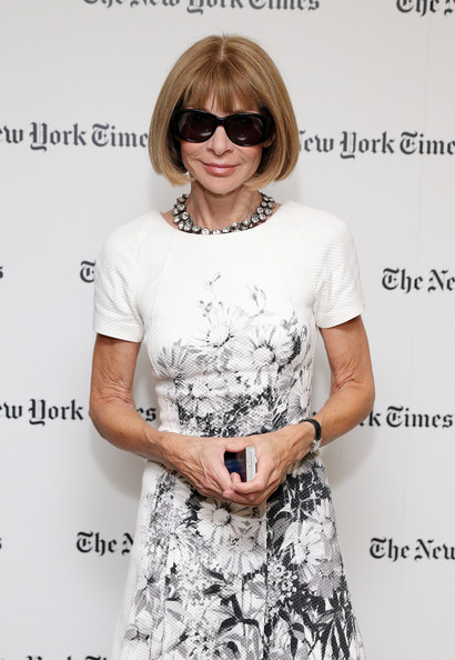 Anna Wintour Oval Sunglasses [vanessa friedman,anna wintour,editor-in-chief,alexandra jacobs,eyewear,hair,clothing,hairstyle,glasses,shoulder,dress,sunglasses,fashion,cool,new york city,new york times,alexandra jacobs welcome party,party]