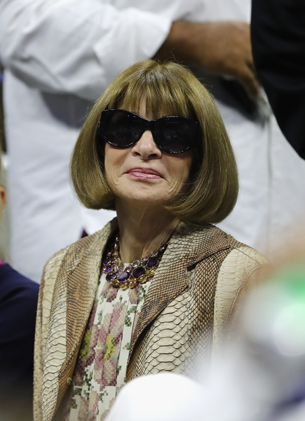Anna Wintour Bob [hair,eyewear,hairstyle,lady,glasses,bangs,sunglasses,blond,vision care,hair coloring,neighborhood,borough,flushing,queens,new york city,us open tennis championships,us open,day twelve,anna wintour]