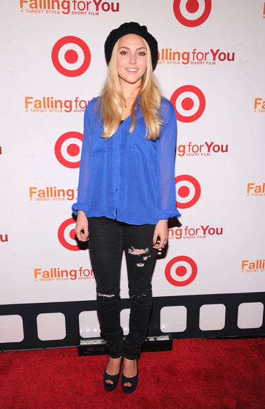 AnnaSophia Robb Peep Toe Pumps [falling for you,red,flooring,shoulder,carpet,t shirt,fashion,red carpet,outerwear,joint,product,annasophia robb,ny,terminal 5,target,event,event]