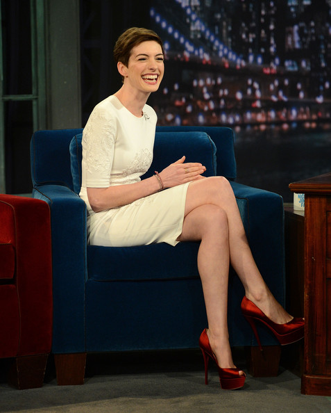 Anne hathaway legs remarkable